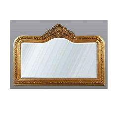 Gold French-style overmantle mirror   Industrial style accessories