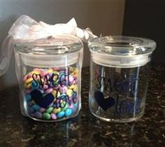 The perfect gift for the holidays or Birthday; Cute Vinyl Candy Jar