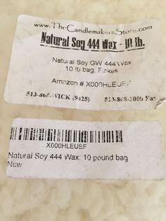 Natural Soy Wax 444 Candlemaking Candle Wax Craft Supply 9 lb Bag   eBay
