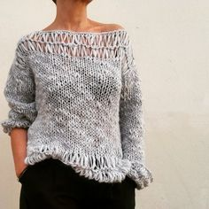 Beautiful wool, soft and warm for a spring sweater