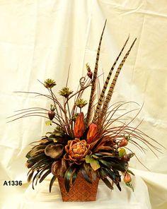Silk Floral Centerpieces | Wholesale Silk Floral Arrangements, Feather Flower Arrangements ...