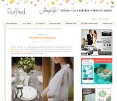 Ruffled-Blog-Image Wedding Car, Wedding Book, Wedding Shoes, Wedding Flower Guide, Wedding Flowers, Recycle Your Wedding, Botanical Wedding, Blog Images, Real Weddings