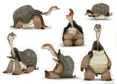 Turtles, Thibault LECLERCQ on ArtStation at https://www.artstation.com/artwork/3vr2E
