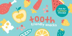 """To make life that little bit easier, we have made a list of our favourite """"Tooth-Friendly Snacks"""". Read here to find out Lists To Make, How To Find Out, How To Make, Free Printables, Dental, Tooth, Snacks, Reading, Fun"""