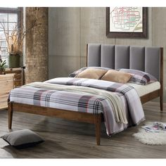 Found it at AllModern - Baxton Studio Rachele Mid-Century Fabric and Wood Full Size Platform Bed