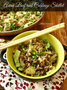 Asian Beef & Cabbage Skillet