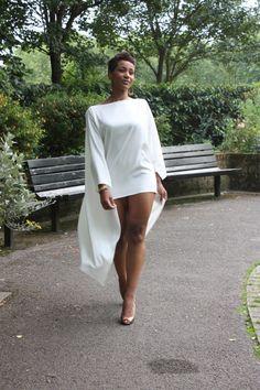 "Yessssssssssssss!!!! Beautiful ""cape dress"" by Gaya Zahari Couture"