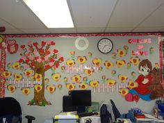 Chicks and flowers Bulletin Board