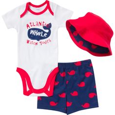 6068d3e97dd Any little boy will have a whale of a time wearing this adorable red