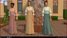 Mod The Sims - Victorian Skirt and Blouse