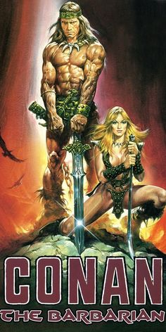 CONAN THE BARBARIAN (1982) Arnold Swartenegger plays sword wielding warrior from marvel comics in this Cinema Trash Classic.