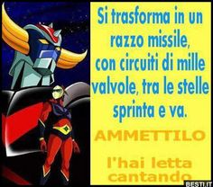 Si trasforma in un razzo missile Italian Humor, Retro Robot, Childhood Days, Have A Laugh, My Favorite Image, Funny Images, Laugh Out Loud, Do You Remember, Lol