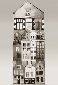 "Large scale architectural collages by Anastasia Savinova. Each collage is meant to reveal ""spirit"" of a particular country or city. Netherlands.  Print can be ordered on http://anastasiasavinova.tictail.com/ or http://www.anastasiasavinova.com/"
