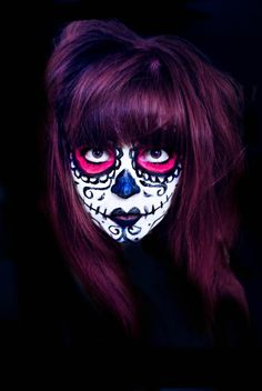 Mexican Day of the Dead Face Paint Design