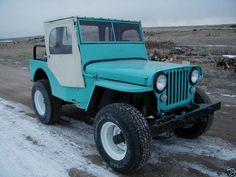 Willys CJ2A with a half cab, but needs Real tires.