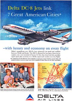 I hate Delta. No love lost on them today... thats for sure. Never ever ever spending a dime with Delta again.  Not ever. --->Delta Airlines DC-8 advertisement