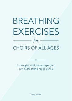 Breathing exercises for choirs of all ages: warm-ups, teaching strategies, and ways of talking about breath control and breath support Singing Lessons, Singing Tips, Music Lessons, Vocal Lessons, Singing Quotes, Piano Lessons, Choir Warm Ups, Middle School Choir, High School