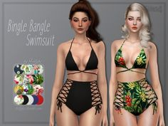 Bikini Swimsuit _ Two piece Swimsuit the sims 4 _ - The Sims 4 Love Life Asia VietNam Maxis, The Sims 4 Pc, Sims 4 Mm, Mods Sims, The Sims 4 Bebes, Sims 4 Toddler Clothes, Sims 4 Black Hair, Pelo Sims, The Sims 4 Cabelos