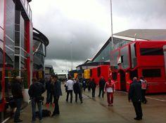 Silverstone paddock during FP1 - 2013 British GP