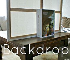 Easy Photo Cheat: DIY Backdrops by Lisa@Lifeblooming