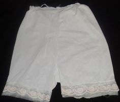 $1.99 Elegant Womens 6 Slip Shorts Vintage Light Blue Floral Lace Bottom 100% Nylon #Elegant #slipshorts