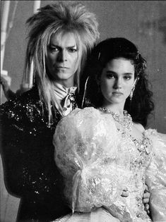 Sarah & Jareth with the same age. Goblin King, Jennifer Connelly, David Bowie, I Movie, Movie Stars, Sarah And Jareth, Bowie Labyrinth, Ziggy Stardust, New Pictures