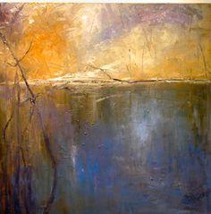 Kathleen Earthrowl.Brimfield Pond VI, 24 x 24 oil/canvas ©2003