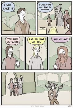 Frodo's face on the last panel xD