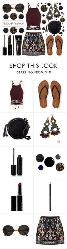 """Best Festival Trend - Embroidered Skirts"" by latoyacl ❤ liked on Polyvore featuring Aéropostale, Urban Expressions, Marc Jacobs, Witchery, Illamasqua, Prada and Soleil Toujours"