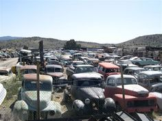 Twas old Car Wrecking Yard now rebirthing yard Vintage Cars, Antique Cars, Wrecking Yards, Good Looking Cars, Rust In Peace, Rusty Cars, Abandoned Cars, Barn Finds, Old Trucks