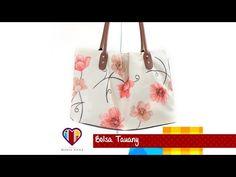 Bolsa de tecido com alça de couro passo a passo Tauany - Maria Adna Ateliê - Cursos e aulas - YouTube