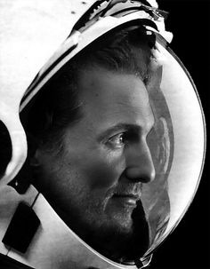 Matthew McConaughey in Interstellar directed by Christopher Nolan