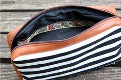 Taschenspieler 2 Sew Along | Miniorganizer by stitchydoo // genähte Tasche // Kramtasche // Kosmetiktasche // Schminktasche // schwarz weiß // sewn bag // black and white // farbenmix pattern