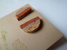 Martinuska / Polmesiac brown/cork earrings