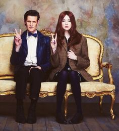 Mat Smith and Karen Gillan