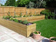Raised border idea for the back of garden (Diy Garden Borders)
