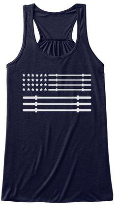 Usa Gym Tank Tops Midnight T-Shirt Front Gym Tank Tops, Workout Tank Tops, Athletic Tank Tops, Usa Gym, American Flag Tank, Fitness, T Shirt, Weight Loss, Women