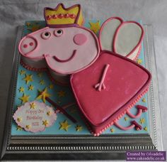 Peppa Pig Cake for a Pink Party and a obsessed girl who loves Peppa