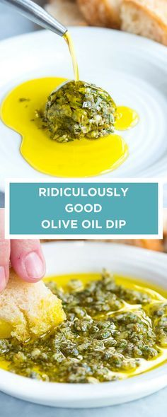 This easy and group-friendly olive oil dip comes together. This easy and group-friendly olive oil dip comes together quickly and it never fails. I mean who doesnt want to dip bread into an herby garlicky parmesan cheese infused olive oil? Snacks Für Party, Appetizers For Party, Appetizer Recipes, Appetizer Dessert, Italian Appetizers, Quick Appetizers, Finger Food Recipes, Healthy Dip Recipes, Healthy Food