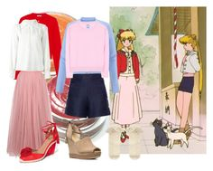 """Sailor M and Sailor V"" by lujzazsu ❤ liked on Polyvore featuring Miu Miu, Little Mistress, CAbi, See by Chloé, Loro Piana, Jardin des Orangers, Aquazzura, MICHAEL Michael Kors, Monsoon and sailormoon"