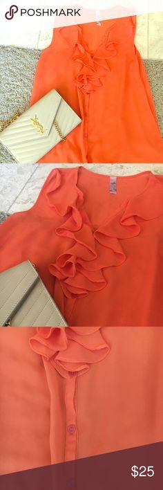 Orange blouse Boutique find Tops Blouses