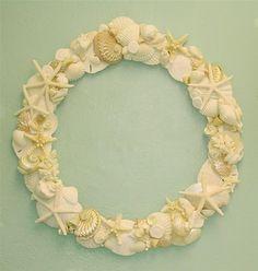 Beach DecorLarge Shell Wreath 20 inch by SeashellCollection, $125.00
