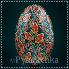 Real Ukrainian Pysanky. Goose Pysanka. Hand made HQ from Roman. Easter Egg