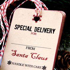 Livraison spéciale de Noël Noël Tags ou étiquettes par scrapbits