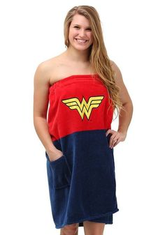 Wonder Woman Cotton Bath Wrap Towel