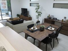 Open Plan, Conference Room, Dining Table, Rustic, Architecture, Interior, Furniture, Home Decor, Homemade Home Decor
