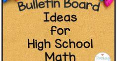 Teaching High School Math: Bulletin Boards for High School Math