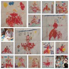 Erdő tündérek Textil festés, falevél