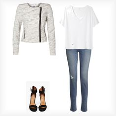 A fashion look from March 2013 featuring v neck t shirts, Vero Moda and J Brand. Browse and shop related looks. J Brand, Outfit Of The Day, V Neck T Shirt, Fashion Looks, Shirts, Outfits, Shopping, Style, Minimalist