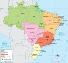 Rio de Janeiro - Conheça seu Estado (História e Geografia): 02 - A organização do espaço geográfico brasileiro...